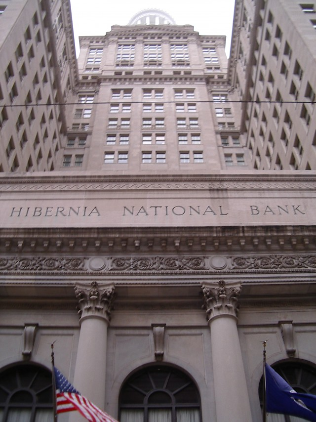 Take a peek behind the scenes of the Hibernia Bank Building.