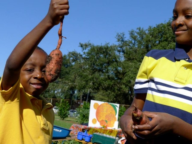 A danceable moment, courtesy of the NOPD and Edible Schoolyard.