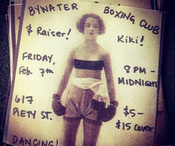 Bywater Boxing club holding fundraising party tonight.