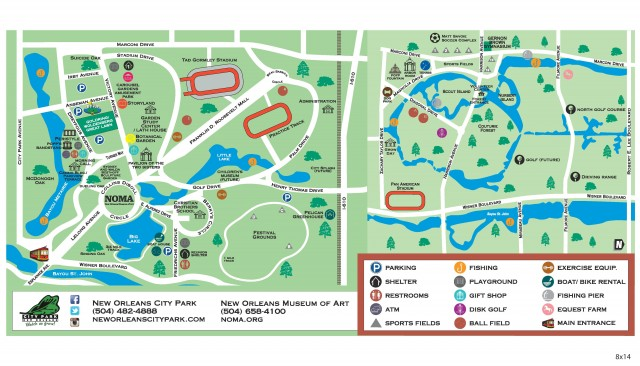 New Orleans City Park Map Find your way around City Park | NewOrleans.Me New Orleans City Park Map